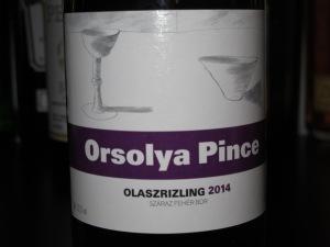 Orsolya Pince Olaszrizling 2014